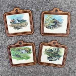 Vintage Wall Hanging Scenery Pictures